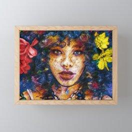 'Started At the Bottom,' African American Female Portrait Framed Mini Art Print