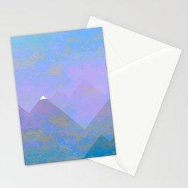 snowy peak Stationery Cards