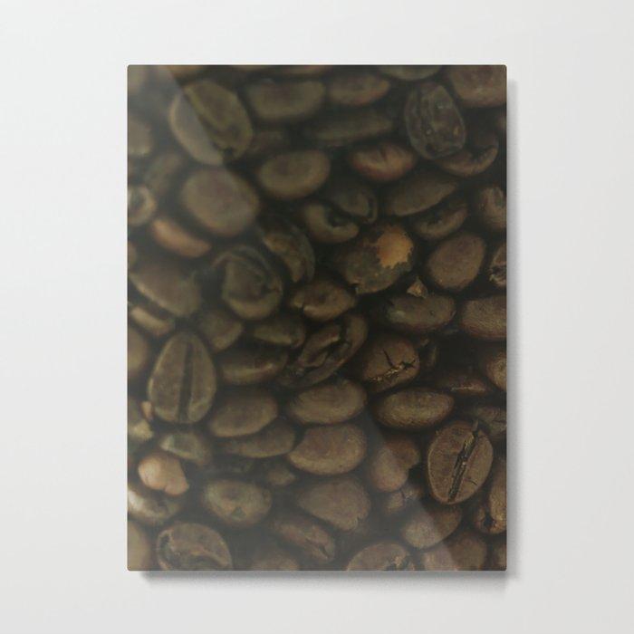 Coffee pattern, fine art photo, Coffeehouse, shops, bar & restaurants, still life, interior design Metal Print