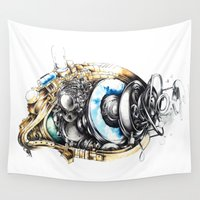 runner Wall Tapestries featuring Sketchbook by Sandra Ink