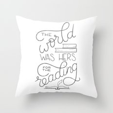 For the Reading Throw Pillow