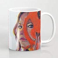 katniss Mugs featuring Katniss by Alina Rubanenko