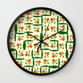 Plants and flowers Wall Clock