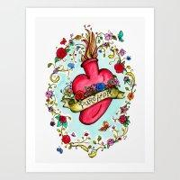 Botanical Heart Illustration Art Print