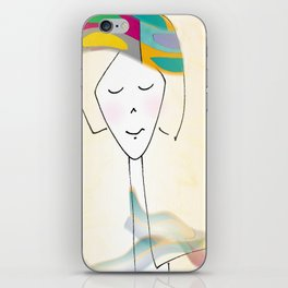 She was known for her interesting hats. iPhone Skin
