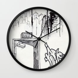 EXIT SERIES 1 Wall Clock