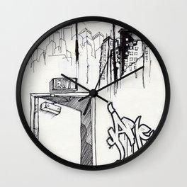 EXIT SERIES 1 Wall Clock