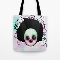 clown Tote Bags featuring CLOWN by Andy Fairhurst Art