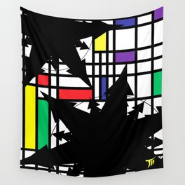 Snowflakes De Stijl Wall Tapestry