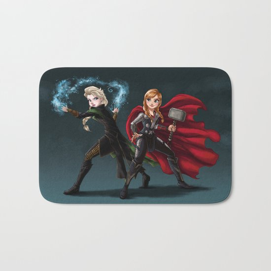 Thunder and Frost Bath Mat