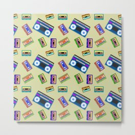 Cassette Tapes Vintage Lover Retro Old Records  Metal Print
