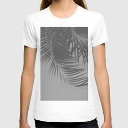 Palm Leaves Gray Vibes #1 #tropical #decor #art #society6 T-shirt