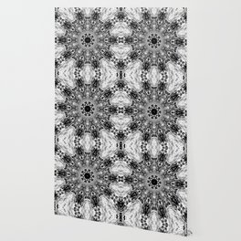 Blac White Mandala Abstract Wallpaper