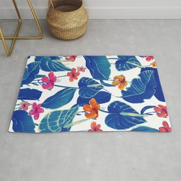 cold flowers Rug