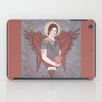 sam winchester iPad Cases featuring Guardian Angel Sam Winchester by KARADIN