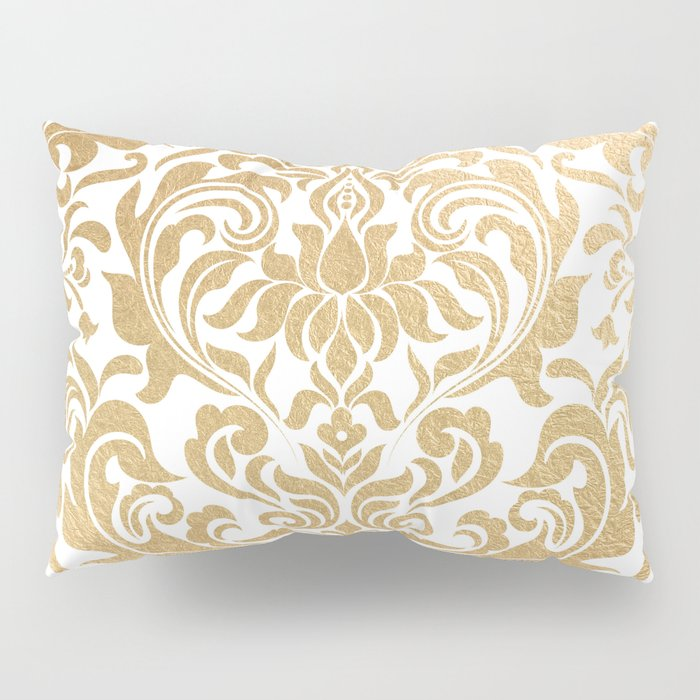 Gold foil swirls damask #12 Pillow Sham