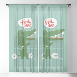 Hungry Hungry Alligator Sheer Curtain