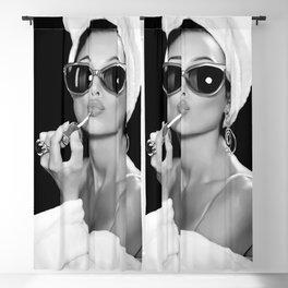 Audrey Hepburn Style Art  Blackout Curtain