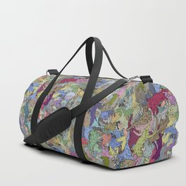 Colorful Flying Cats Duffle Bag