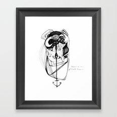 plumb line Framed Art Print