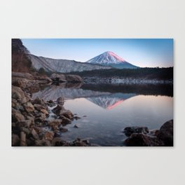 Mt. Fuji with a Touch of Rose Canvas Print