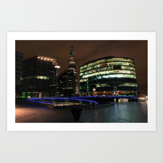 Shard London Bridge | colored Art Print