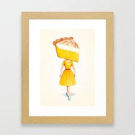 Cake Head Pin-Up - Lemon Framed Art Print