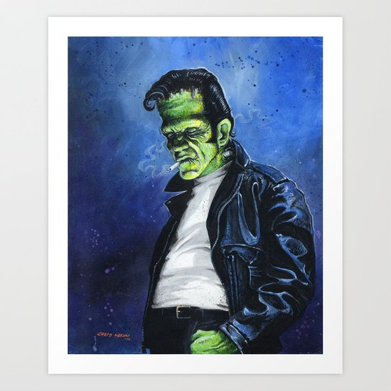 Rebel Frankenstein Art Print