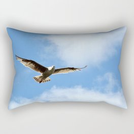 Soaring Seagull Rectangular Pillow