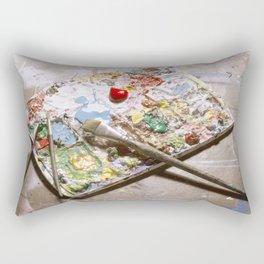 Artists Pallet. Rectangular Pillow