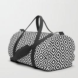 Black and white watercolor diamond pattern Duffle Bag
