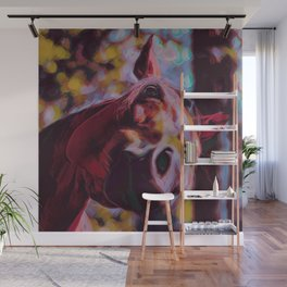 Curious Horse III Wall Mural