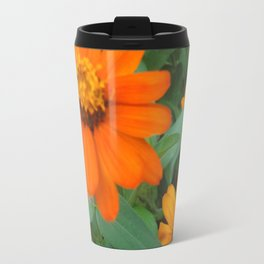 Orange Echinacea Sombrero Coneflowers Travel Mug