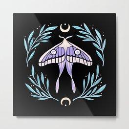 Moon Moth 02 | Nikury Metal Print