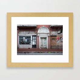 Burbon Street Morning Framed Art Print