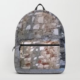 Lisbon archaeological Museum of Carmo_wall pattern Backpack