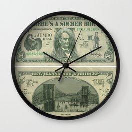 """NYTI """"Buyer Beware"""" Wall Clock"""