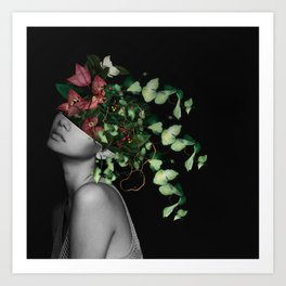 Lady Flowers X Art Print