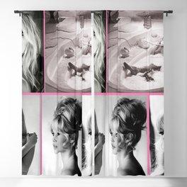 Brigitte Bardot Art Canvas-Brigitte Bardot Sexy Nude Art Canvas Blackout Curtain