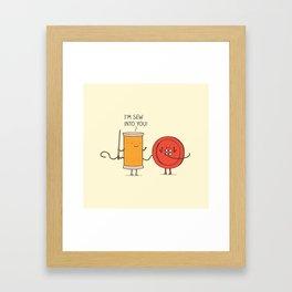 I'm sew into you! Framed Art Print