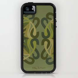 Safe Mandala x2 - Olive Green iPhone Case