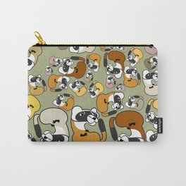 Black Footed Ferret pattern Carry-All Pouch