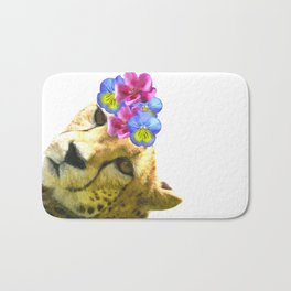 Cute Cheetah Portrait Bath Mat