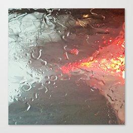 Raindrops on my windshield Canvas Print