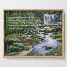 Tao Te Ching Quote Zen Waterfall Print Serving Tray