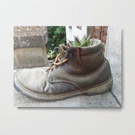 Cactus Boot #Tuscany #Photography #Italy Metal Print