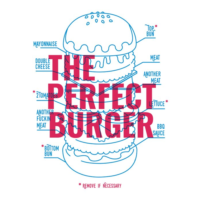 The Perfect Burger Duvet Cover