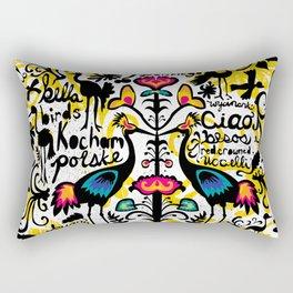 Wycinanki Folk Art Rectangular Pillow