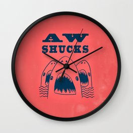 AW SHUCKS Wall Clock