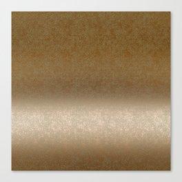 Golden gradient ornament background Canvas Print